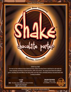 Boulder Shake Chocolate Porter Logo