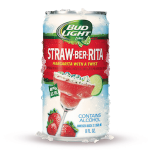 Bud Light Straw-Ber-Rita Logo