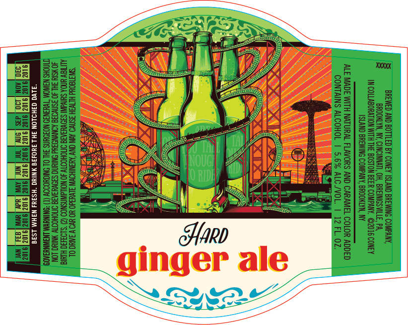 Coney Island Hard Ginger Ale Logo